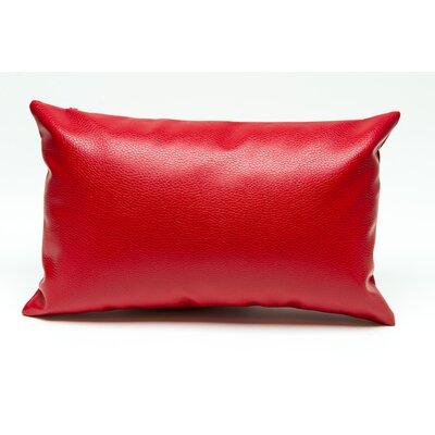 Tahlil Lumbar Pillow Color: Red