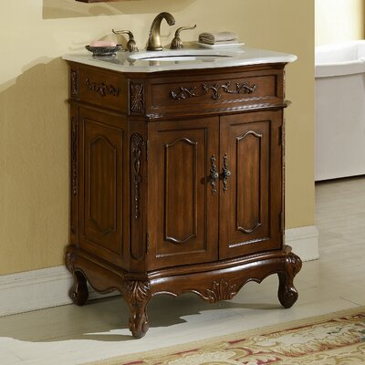 Mangold 27 Single Bathroom Vanity Base Finish: Teak
