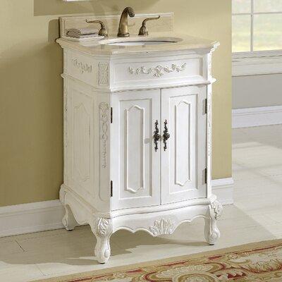 Milan 24 Single Bathroom Vanity Base Finish: Antique White