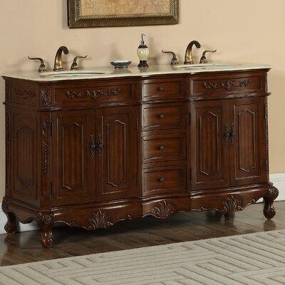 Mangold 60 Double Bathroom Vanity Set Base Finish: Teak