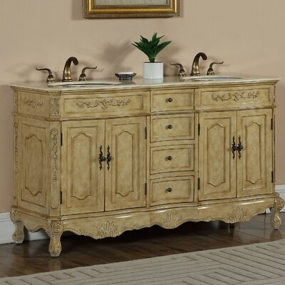Mangold 60 Double Bathroom Vanity Set Base Finish: Tan