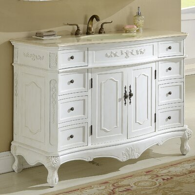 Mangold 48 Single Bathroom Vanity Base Finish: Antique White