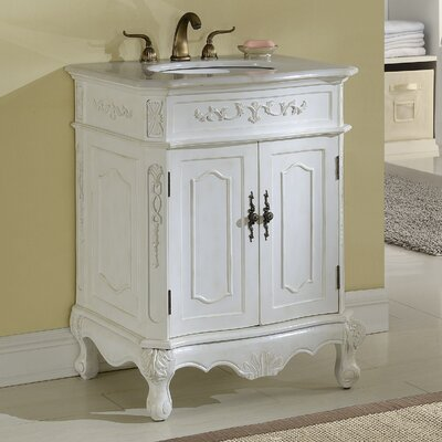 Mangold 27 Single Bathroom Vanity Base Finish: Antique White