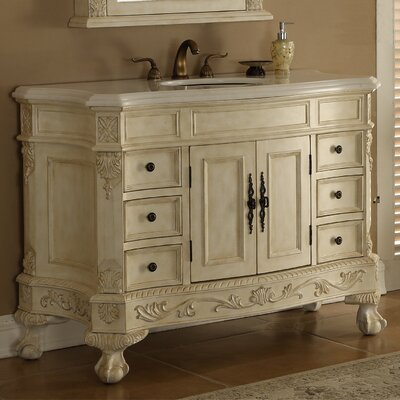 Chelsea 48 Single Bathroom Vanity Base Finish: Antique White