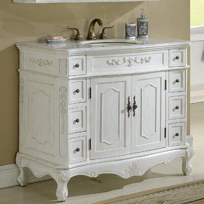 Mangold 42 Single Bathroom Vanity Base Finish: Antique White