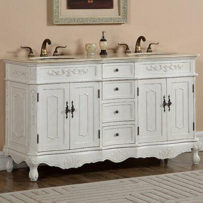 Mangold 60 Double Bathroom Vanity Set Base Finish: Antique White