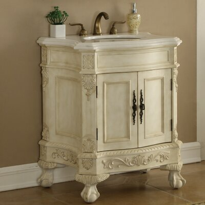 Chelsea 30 Single Bathroom Vanity Base Finish: Antique White