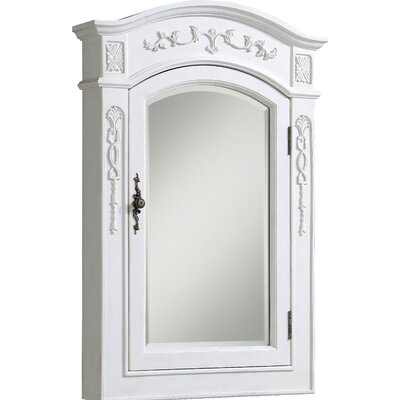 Milan 24 x 36 Surface Mount Medicine Cabinet Finish: Antique White