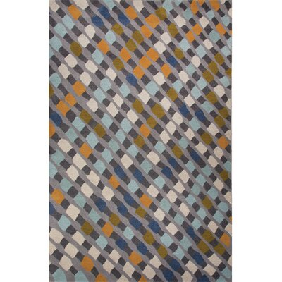 National Geographic Home Hand Tufted Wool Blue Area Rug Rug Size: 2 x 3