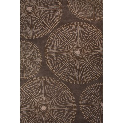 National Geographic Home Premium Wool Hand Tufted Brown Area Rug Rug Size: 5 x 8