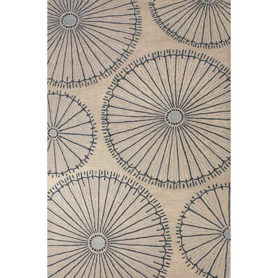 National Geographic Home Premium Wool Hand Tufted Ivory/Blue Area Rug Rug Size: 2 x 3