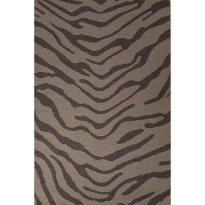 National Geographic Home Wool Flat Weave Dark Gray Tiger Area Rug Rug Size: 8 x 10