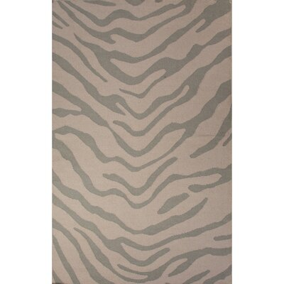 National Geographic Home Wool Flat Weave Gray Area Rug Rug Size: 8 x 10