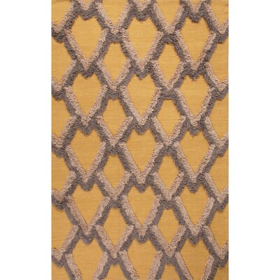 National Geographic Home Premium Wool Flat Weave Yellow/Gold Area Rug Rug Size: 5 x 8