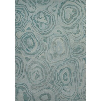 National Geographic Home Premium Wool Hand Tufted Blue Area Rug Rug Size: 2 x 3