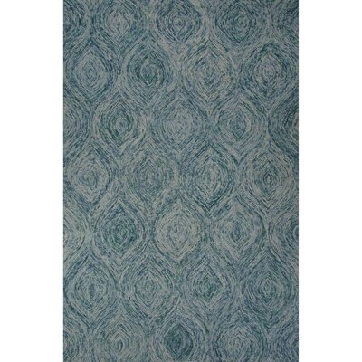 National Geographic Home Premium Wool Hand Tufted Blue Area Rug Rug Size: 8 x 10