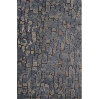 National Geographic Home Premium Wool Hand Tufted Blue Area Rug Rug Size: 5 x 8