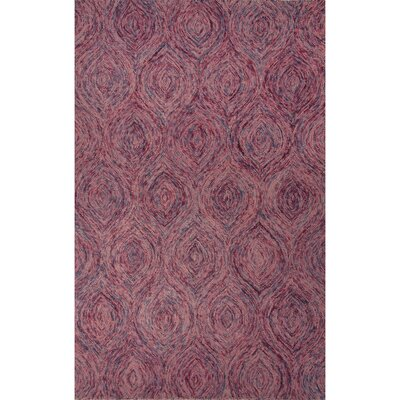 National Geographic Home Premium Wool Hand Tufted Pink Area Rug Rug Size: 8 x 10