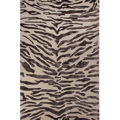 National Geographic Home Hand Tufted Wool and Viscose Tiger Area Rug Rug Size: 2 x 3