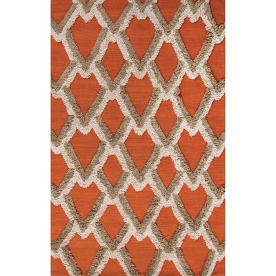 National Geographic Home Premium Wool Orange Flat Weave Area Rug Rug Size: 5 x 8