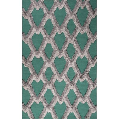 National Geographic Home Collection Premium Wool Green/Gray Flat Weave Area Rug Rug Size: 2 x 3
