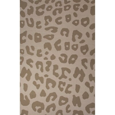 National Geographic Home Collection Wool Tan Leopard Flat Weave Area Rug Rug Size: 5 x 8