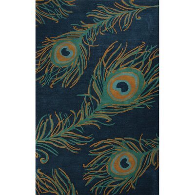 National Geographic Home Wool and Viscose Hand Tufted Blue Area Rug Rug Size: Rectangle 8 x 10