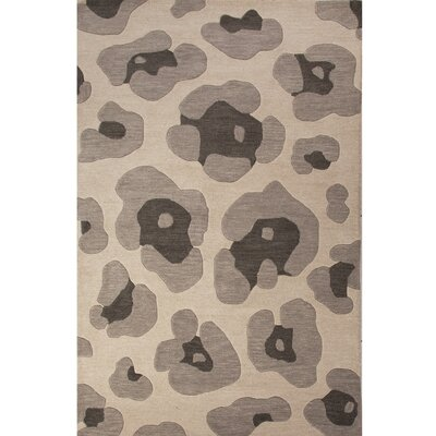 National Geographic Home Wool Gray Hand Tufted Area Rug Rug Size: 2 x 3