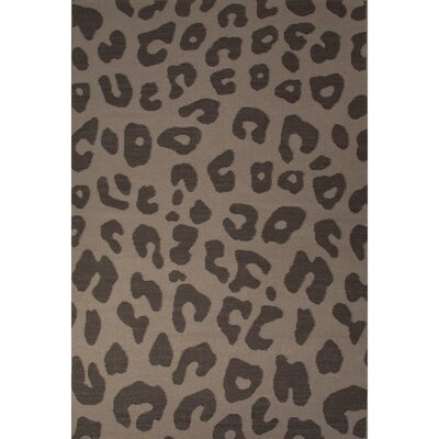 National Geographic Home Wool Flat Weave Leopard Cobblestone Area Rug Rug Size: 5 x 8