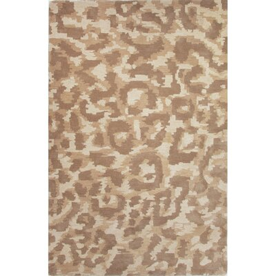 National Geographic Home Hand Tufted Wool Brown Area Rug Rug Size: 5 x 8