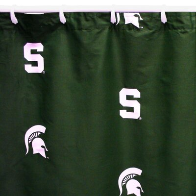 NCAA Michigan State Cotton Printed Shower Curtain