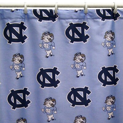 NCAA North Carolina Cotton Printed Shower Curtain