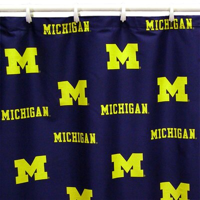 NCAA Michigan Cotton Printed Shower Curtain