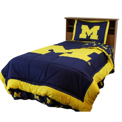 NCAA Michigan Reversible Comforter Set Size: Twin