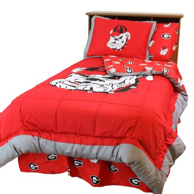 NCAA Georgia Reversible Comforter Set Size: Queen