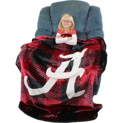 Alabama Crimson Tide Plaid Throw Blanket