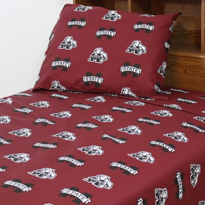 NCAA Mississippi State Sheet Set Size: Extra-Long Twin