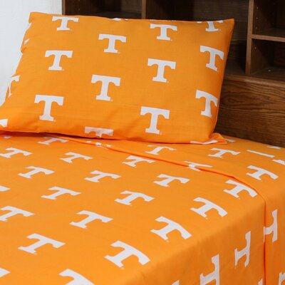 NCAA Tennessee Sheet Set Size: Extra-Long Twin