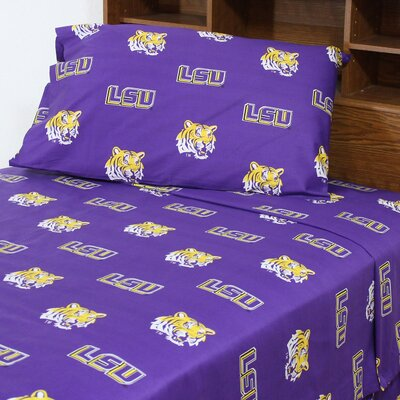 NCAA LSU Sheet Set Size: King