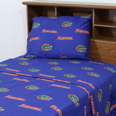 NCAA Florida Gators Sheet Set Size: King