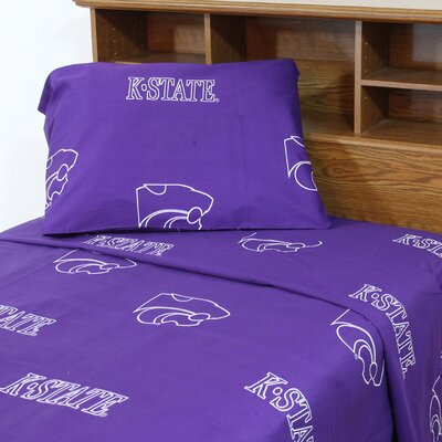 NCAA Kansas State Sheet Set Size: Twin