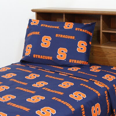 NCAA Syracuse Sheet Set Size: Queen