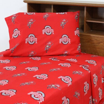 NCAA Ohio State Printed Sheet Set Size: Twin