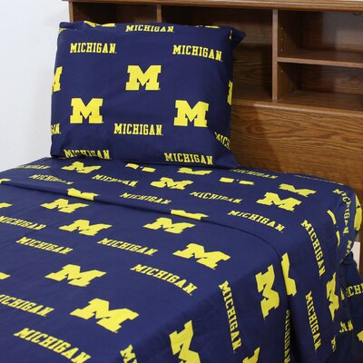NCAA Michigan Sheet Set Size: Queen