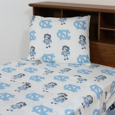 NCAA North Carolina Sheet Set Size: Queen