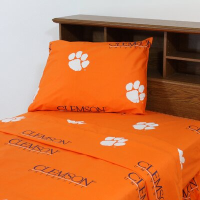 NCAA Clemson Sheet Set Size: Full