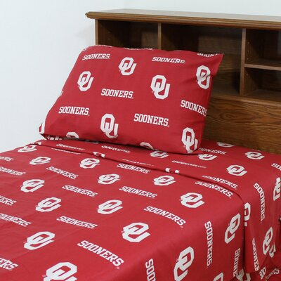 NCAA Oklahoma Sheet Set Size: Extra-Long Twin