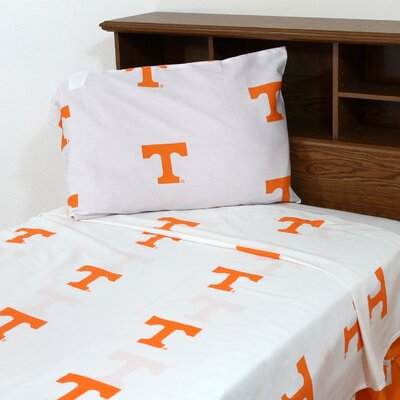 NCAA Tennessee Printed Sheet Set Size: Queen