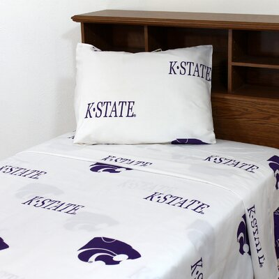 NCAA Kansas State Sheet Set Size: Extra-Long Twin