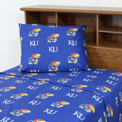 NCAA Kansas Sheet Set Size: Full